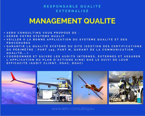 Aero Consulting Formations aéronautiques - Management Qualité Aéronautique - Responsable Qualité externalisé