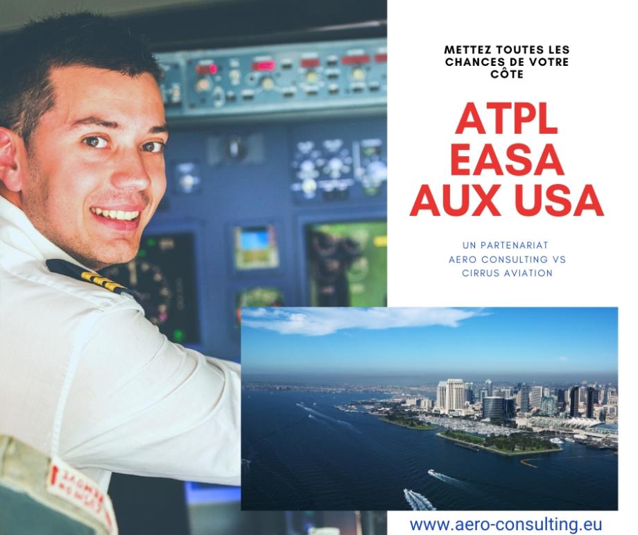 Aero Consulting Formations aéronautiques - ATPL EASA FAA AUX USA Licence de pilote de ligne - Formation intégrée en Californie