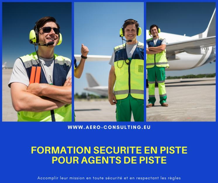Aero Consulting Formations aéronautiques - Formation sécurité en piste pour agents de piste