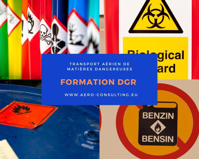 Aero Consulting Formations aéronautiques - Formation DGR Transport aérien de matières dangereuses - Transport aérien de marchandises dangereuses